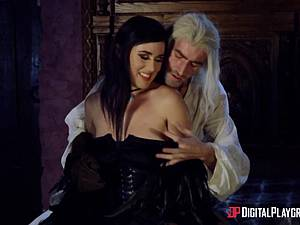 Danny D fools around as Geralt and fucks black-haired babe