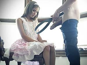 Older brother punish his naughty little sister Natasha White